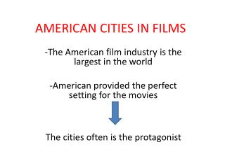 AMERICAN CITIES IN FILMS