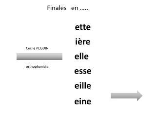 Finales   en …..