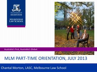 MLM Part-Time Orientation, July 2013