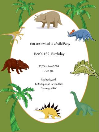 You are  Invited to  a Wild Party
