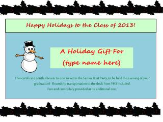 Happy Holidays to the Class of 2013!