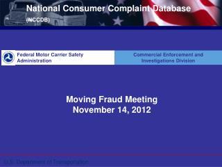 National Consumer Complaint Database  (NCCDB)