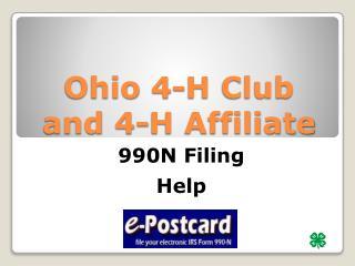 Ohio 4-H Club and 4-H Affiliate