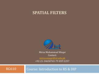 Spatial Filters