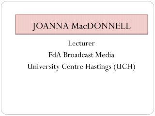 JOANNA MacDONNELL