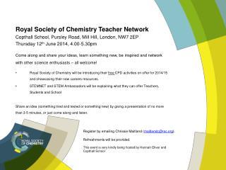 Royal  Society of Chemistry Teacher  Network