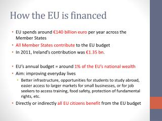How the EU is financed