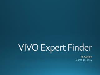 VIVO Expert Finder