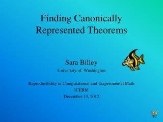 Finding Canonically  Represented Theorems
