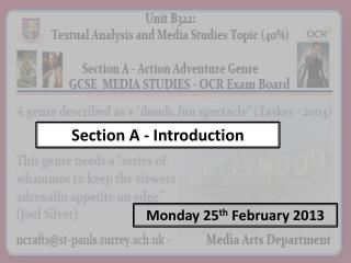 Section A - Introduction