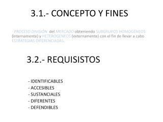 3.1.- CONCEPTO Y FINES