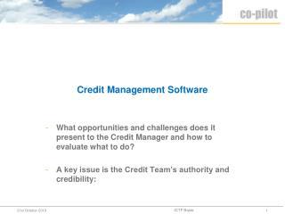 Credit Management Software