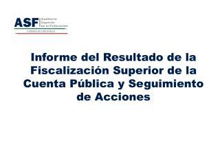 Informe del Resultado de la Fiscalizaci�n Superior de la Cuenta P�blica y Seguimiento de Acciones