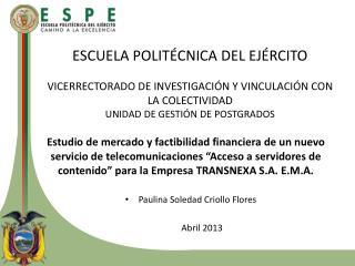 Paulina  Soledad Criollo Flores Abril  2013