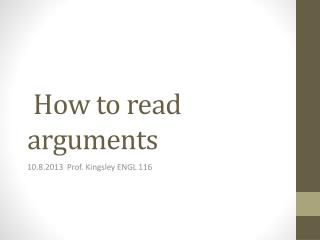 How to read arguments