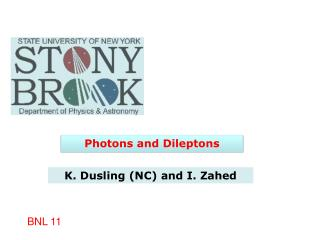 Photons and  Dileptons
