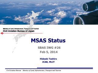 MSAS Status