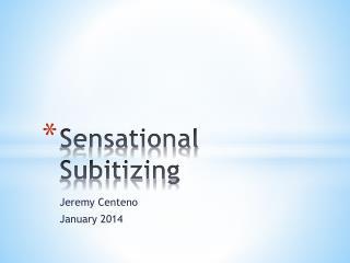 Sensational  Subitizing
