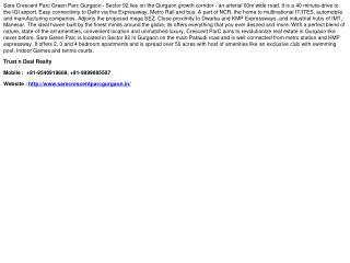Sare Crescent Parc Gurgaon, 9540919669, Sare Green Parc Sect