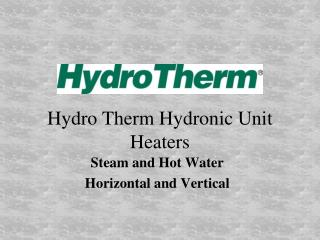 Hydro  Therm Hydronic Unit Heaters