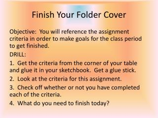 Finish Your Folder Cover