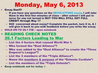 Monday, May 6, 2013