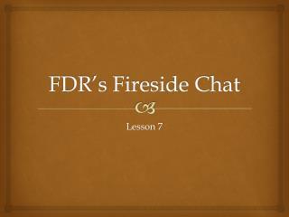 FDR's Fireside Chat