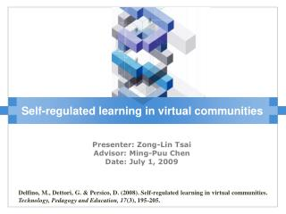 Self-regulated learning in virtual communities