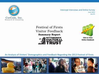 Festival of Firsts  Visitor Feedback Summary Report