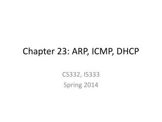 Chapter 23: ARP, ICMP, DHCP