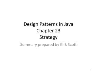 Design Patterns in Java Chapter 23 Strategy
