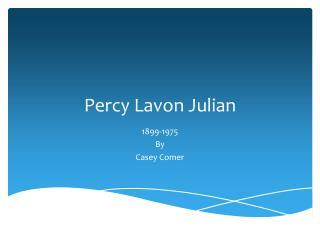 Percy Lavon Julian