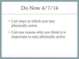 Do Now 4/7/14
