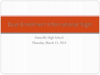 Dual Enrollment Informational Night