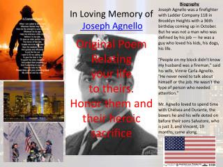 In Loving Memory of   Joseph Agnello