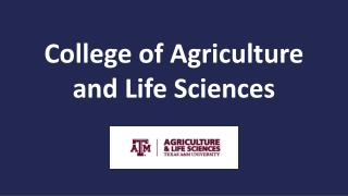 College of Agriculture and Life Sciences
