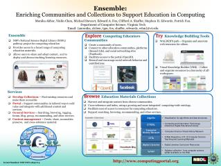 Ensemble  NSF's National Science Digital Library (NSDL) pathway project for computing education