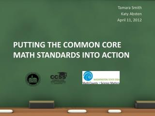 Putting the Common core math standards into action
