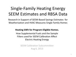 Heating kWh for Program-Eligible Homes.