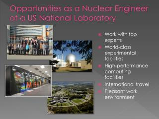 Opportunities as a Nuclear Engineer at a US  National Laboratory