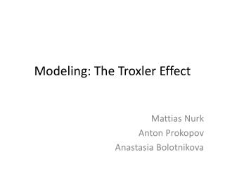 Modeling: The  Troxler  Effect