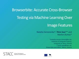 Browserbite: Accurate Cross-Browser Testing via Machine Learning Over Image Features