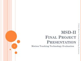MSD-II  Final Project  Presentation