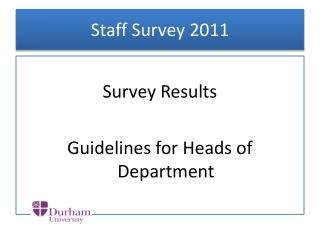 Staff Survey 2011
