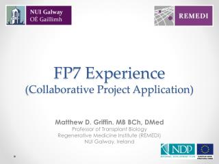 FP7 Experience (Collaborative Project Application)