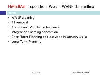 HiRadMat : report from WG2 – WANF dismantling