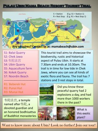 Pulau Ubin  Mama Beach Resort Tourist Trial