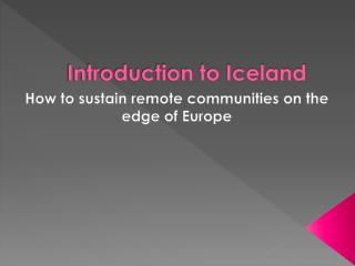 Introduction to Iceland
