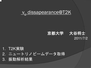 ν μ dissapearance@T2K