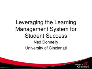 Leveraging the Learning Management System for Student Success